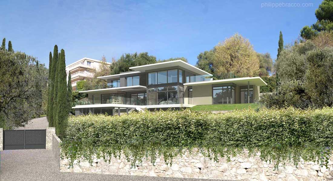 cabinet d 39 architecte cannes mougins villa au. Black Bedroom Furniture Sets. Home Design Ideas