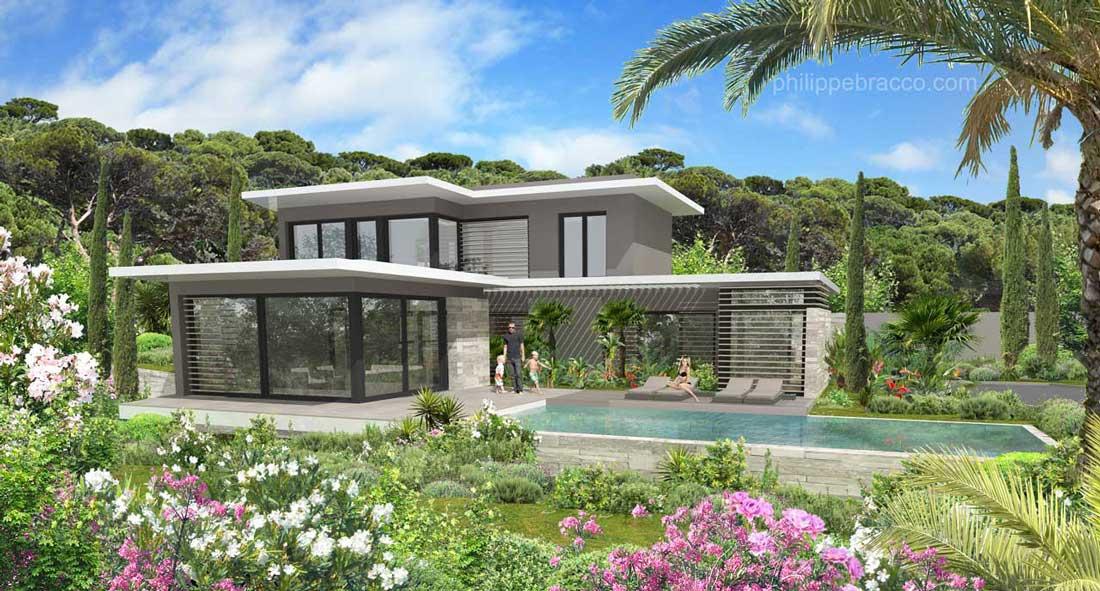 cabinet d 39 architecte cannes mougins villa bar. Black Bedroom Furniture Sets. Home Design Ideas