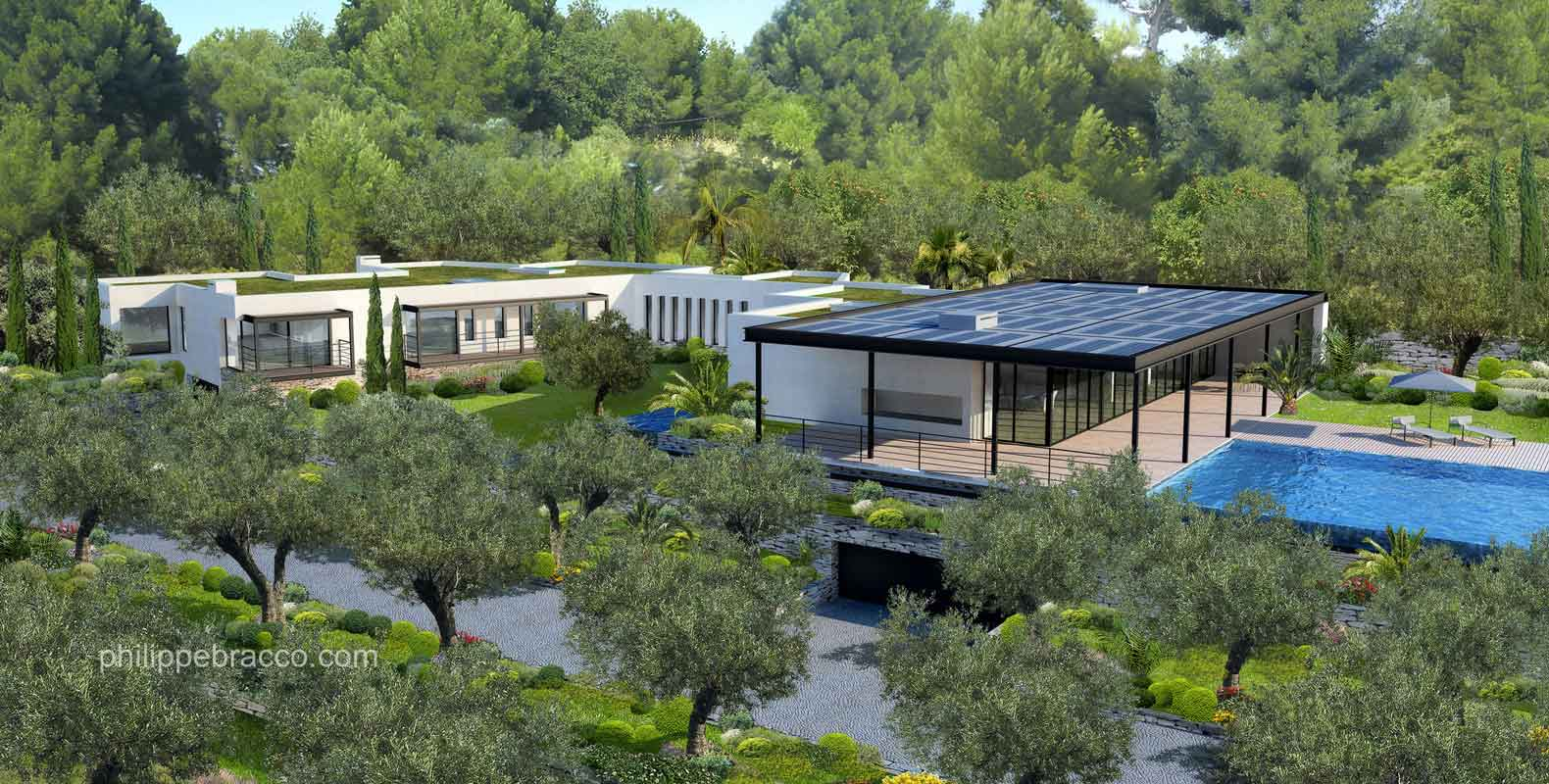 cabinet d 39 architecte cannes antibes villa lo. Black Bedroom Furniture Sets. Home Design Ideas